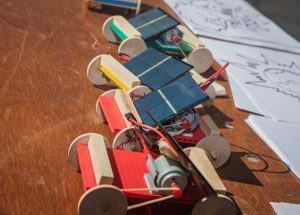 Solar powered toy cars