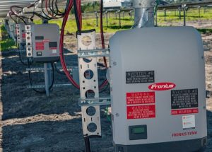 Photo of the Fronius inverters