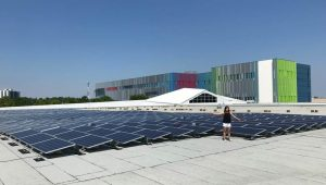 OREC Solar project atop Museum of Science & Tech